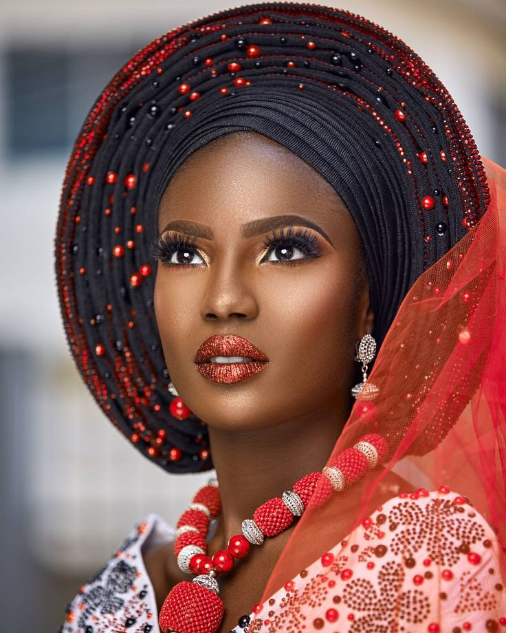 TRADITIONAL BRIDAL INSPIRATION   Makeup - @jideofstola   Model - @onyinye_emeasoba for @bethmodelafrica  Photography- @princemeyson  Gele ,blouse and beads - @bimmms24  Gele tying- @oni_gele  #weddinginspiration #BellaNaijaWeddings