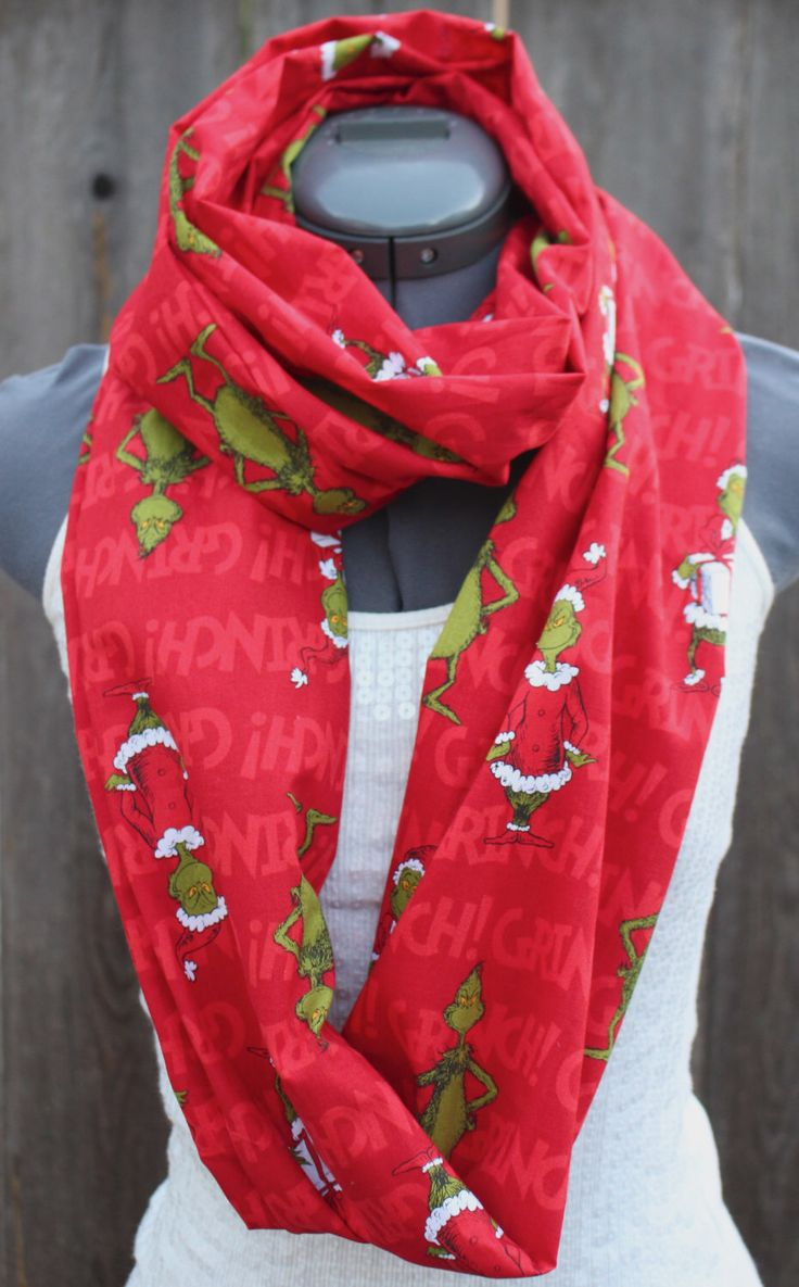 Dr Suess The Grinch Christmas Infinity Scarf The O Jays