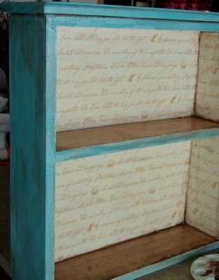 DIY shelves from wood drawers.-CRACKED PAINT TUTORIAL. Maybe for the drawers in my room?