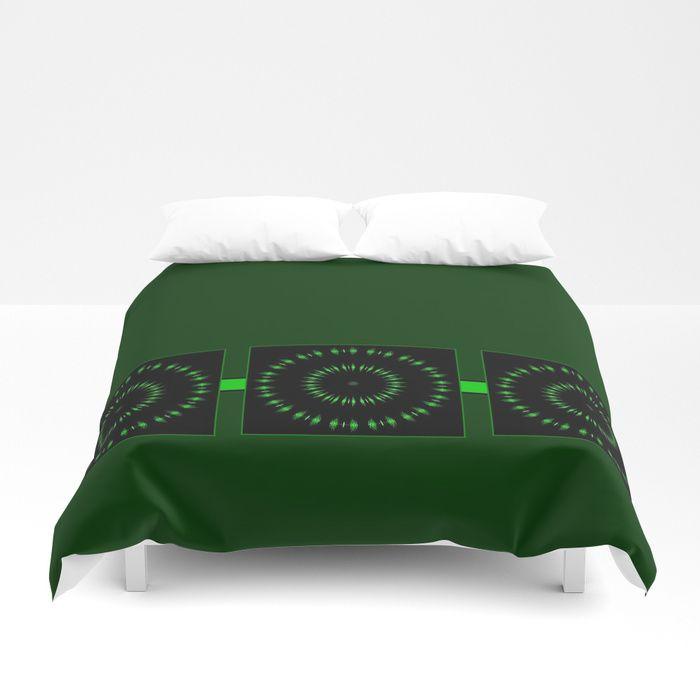 Expanding Green Duvet Cover