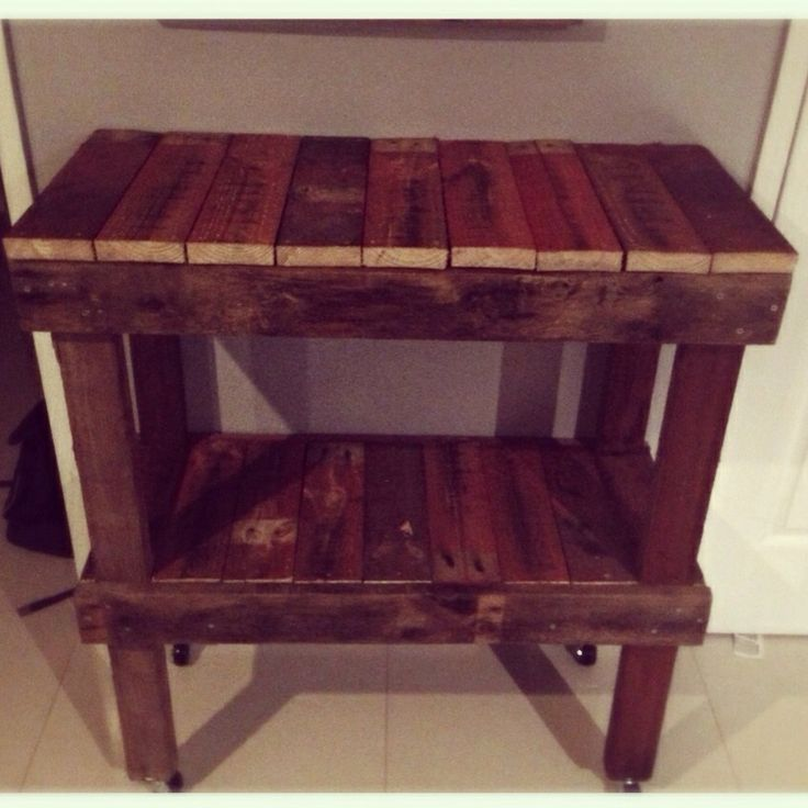 Sunday project day with my hubby!! DIY pallet kitchen trolley!! Paint tomorrow #rustic #pallet #diy