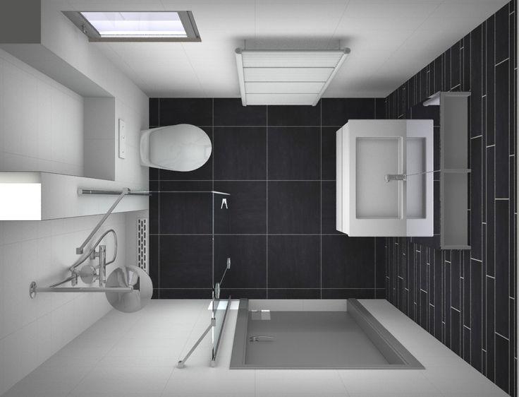 25+ beste idee u00ebn over Kleine Badkamers op Pinterest   Moderne kleine badkamers en Kleine