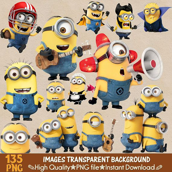 Minions Clipart Png Minions Invitation Digital Clipart Cartoon