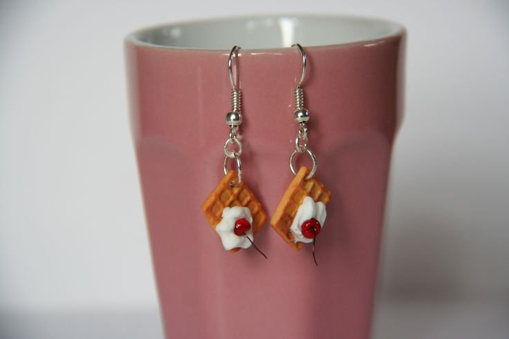 Boucles d'oreilles | Gauffres | Fimo || Earrings | Waffles | Polymerclay