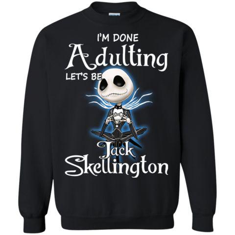 Nightmare Before Christmas Halloween Shirts Let s Be Jack Skellington Hoodies Sweatshirts