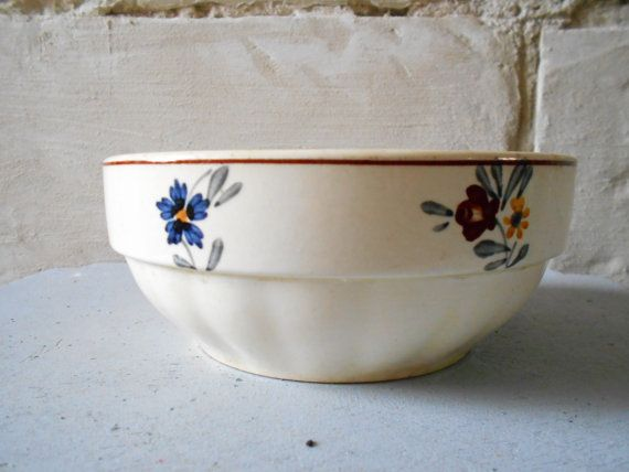 Adorable old French bowl antique French cafe au by Birdycoconut
