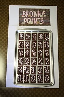 """Cute idea for keeping track of class compliments.  Each time the class is complimented (in the hall, at specials, etc.), they receive a """"brownie.""""  Once the brownie pan is filled, the class gets a reward."""