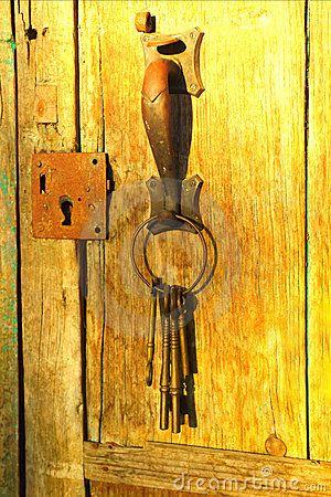 old door and keys