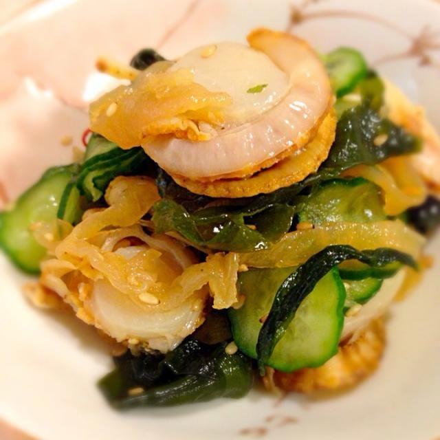 試食コーナーのレシピに若芽で、かさまし - 96件のもぐもぐ - ベビー帆立と中華クラゲ和え✨ by 412mo