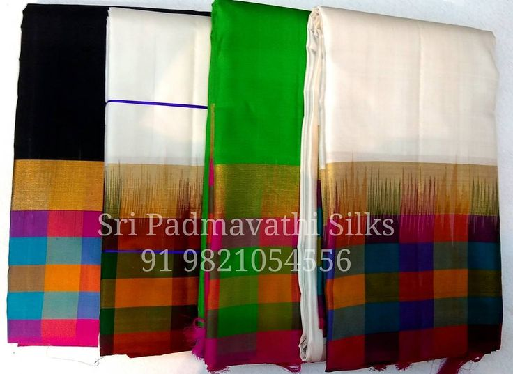 Kancheepuram pure silk sarees with multicolour checks on border, pallu, and blouse. Book now 91 9821054556 Sri Padmavathi Silks, the only south Indian store in Dombivli, India. Kancheepuram pure silk sarees in Mumbai. Online shopping and International shipping available. Wholesale orders accepted. #saree #sari #buyonline #sareesonline #onlineindia #onlineshopping #beautiful #fashion #love #pretty #sareelove #kancheepuramsaree #puresilk #wedding #marriage #checks #multicolor #malaysia #canada…
