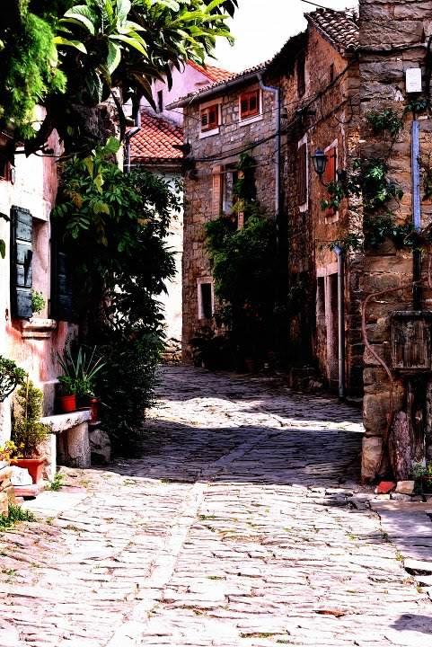 Enchanted Groznjan in the direct vicinity of Slovenian - Croatian border -  Istria, Croatia