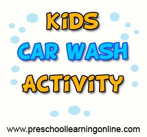 Kids car wash dramatic play activity for teaching children fun ideas in the preschool classroom or at home! http://www.preschoollearningonline.com/dramatic-play/dramatic-play-kids-carwash.html   #dramaticplay #pretendplay