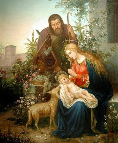 Hans Zatzka, (1859-1945): Sagrada Familia.