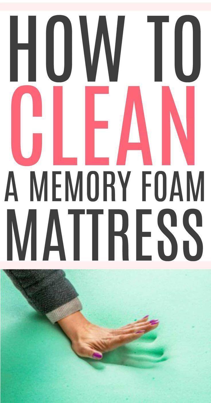 How To Clean A Memory Foam Mattress Clean Memory Foam Mattress Mattress Cleaning Memory Foam Mattress