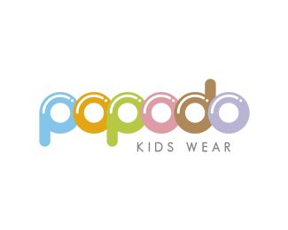 POPODO Logo design - POPODO is the right logo for kids wear or the young