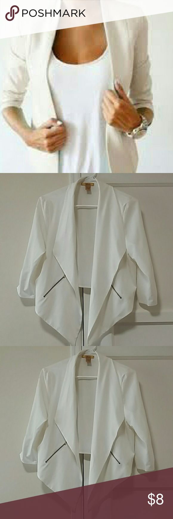 FINESSE Very nice women short coat with zippers  on paquets Finesse Jackets & Coats