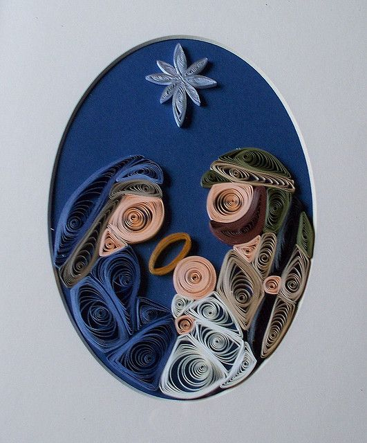And another quilled nativity.  I tend to quill nativities in groups.