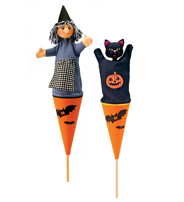 Halloween Cone Puppets