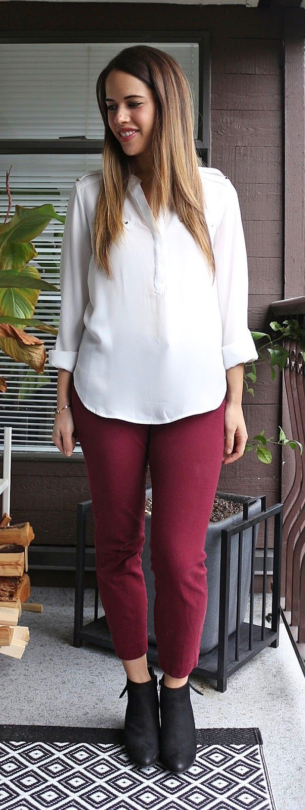Jules in Flats - Dynamite Blouse, Old Navy Pixie Pants, Steve Madden Jaydun Booties