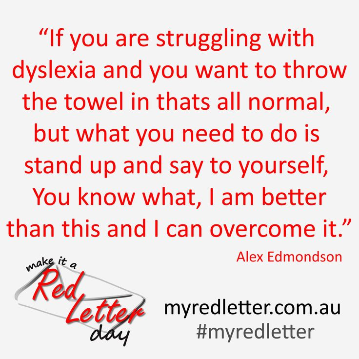 Alex Edmondson - Olympian - Quote Make it a Red Letter Campaign & Competition Dyslexia Awareness #myredletter