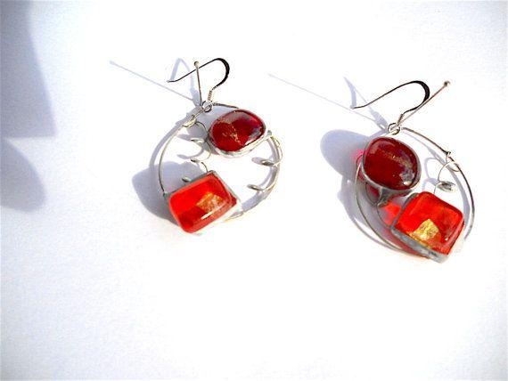"25%OFF""FRIENDS""code  #artisan #jewelry #giftidea #silver #original #etsyfinds #occasion #design #earringsArtisan silver earringsoval earrings sterling by Dartisanglass"