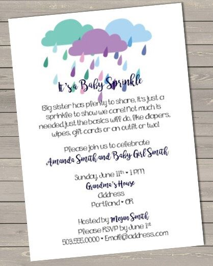 A Baby Sprinkle https://www.etsy.com/listing/288477155/sprinkle-baby-shower-invitation
