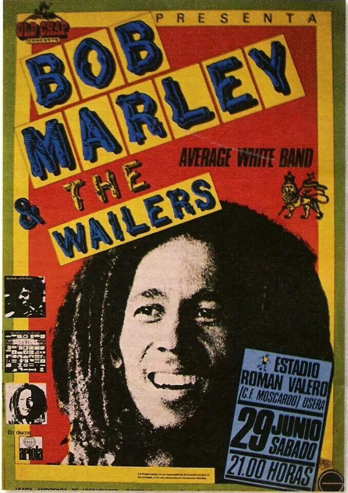 Bob Marley & The Wailers 1980 Uprising Spain Tour poster ...