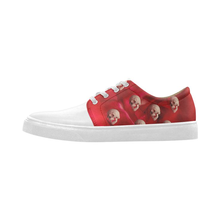 Funny Skulls and Red Rose Cygnus Pointed Toe Women
