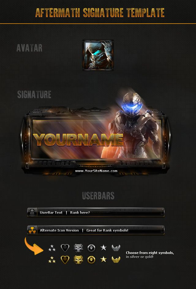 Amazing 7 Gaming Forum Signature Psd Kit Perfect For Gaming