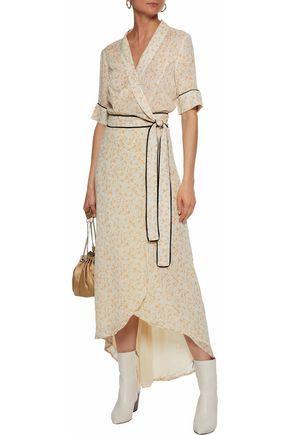 a3c1fd20f005 Printed chiffon wrap midi dress | GANNI | Sale up to 70% off | THE OUTNET