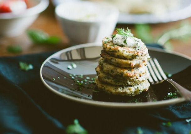 These Zucchini Blinis only need three ingredients to work! Great to make in bulk for breakfasts on the go.