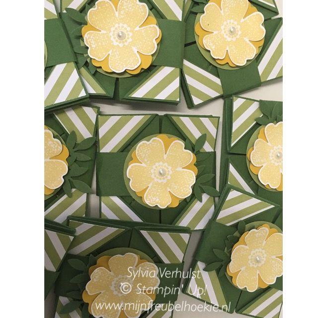 Little Napkin Fold thank you goodies#workshop Napkin Fold# Stampin' Up!