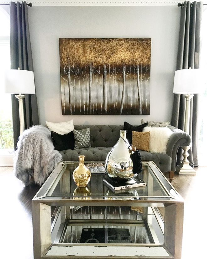 584 best GRAY, GOLD, SILVER \ BLING! images on Pinterest - gray and gold living room