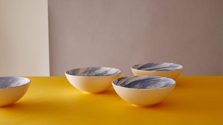 Blue Bloom Bowls