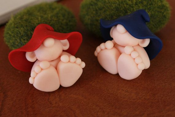 Polymer Clay Baby Gnome Miniature Baby Gnome Mini by GnomeWoods