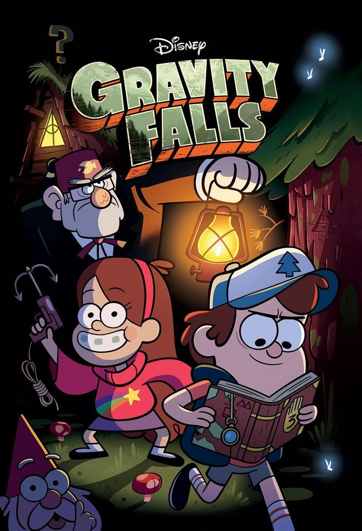 Gravity Falls: La serie narra la historia de los hermanos mellizos Dipper y Mabel Pines, quienes pasan sus vacaciones de verano visitando a su tío abuelo Stan en una cabaña ubicada en un pueblo ficticio de Oregón llamado Gravity Falls, el cual resulta rodeado de sucesos paranormales y sobrenaturales.