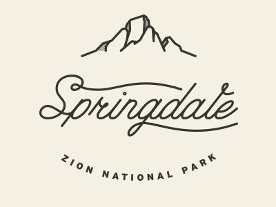 like the use of the landscape element as an implied line of the badge. Springdale by Tavish Calico