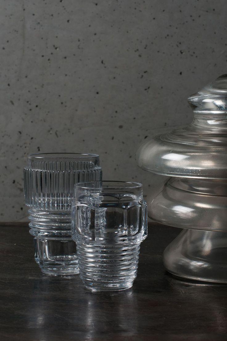 Flotte glas fra Machine Collection fra Seletti er designet i samarbejde med Diesel Living, som har fået inspiration fra maskineri.
