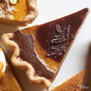 This pumpkin pie satisfies chocolate cravings and sneaks in some heat./