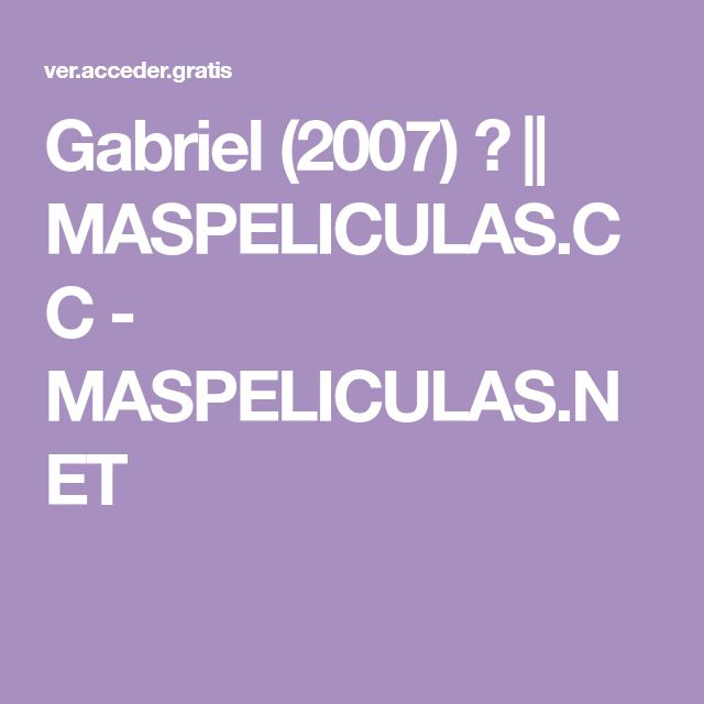 Gabriel 2007 Maspeliculas Cc Maspeliculas Net Lockscreen Gabriel Lockscreen Screenshot