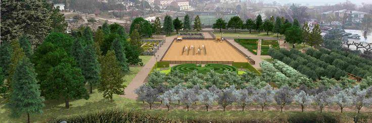 Les jardins du château en réalité augmentée panoramique