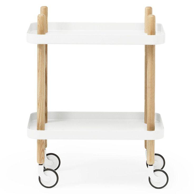 Block bord,vit i gruppen Möbler / Bord / Rullbord hos RUM21.se (124274)