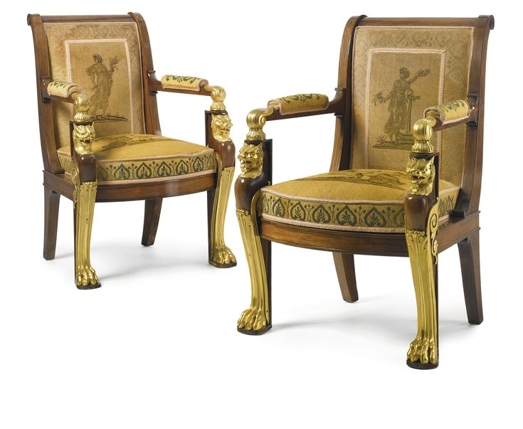 A PAIR OF EMPIRE STYLE GILT BRONZE MOUNTED CARVED WALNUT FAUTEUILS  France    circa  Empire StyleAntique FurnitureModern. 900 best EMPIRE STYLE   MYO images on Pinterest   Empire style
