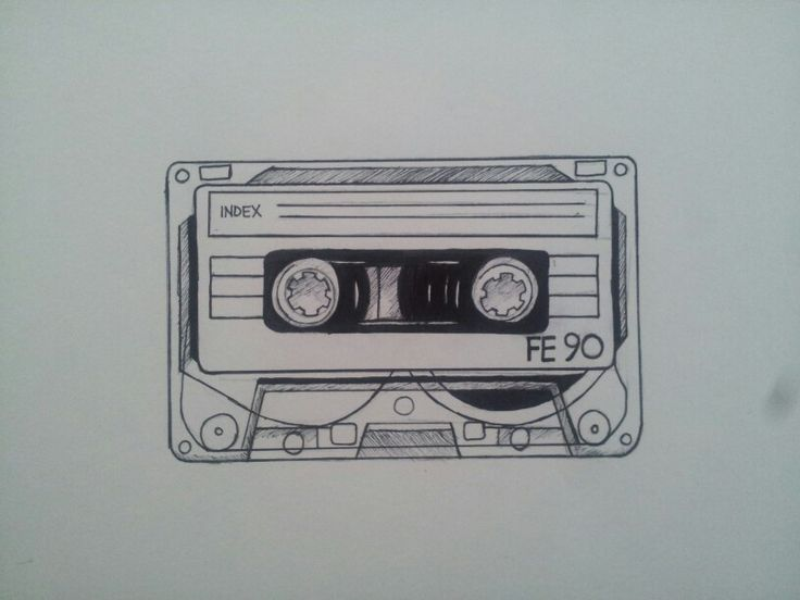 Cassette tape tattoo design