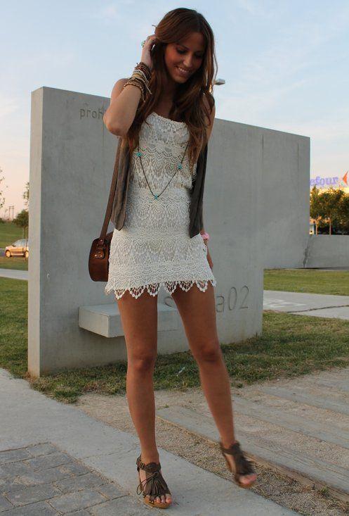 Bershka  Dresses, Mustang  Heels / Wedges and Blanco  Bags