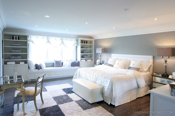 The soft colour pallet gives this bedroom an expansive, peaceful feeling. Bel Air Estates in Ancaster, Ontario. By Landmart Homes. #hamont #bedroomideas