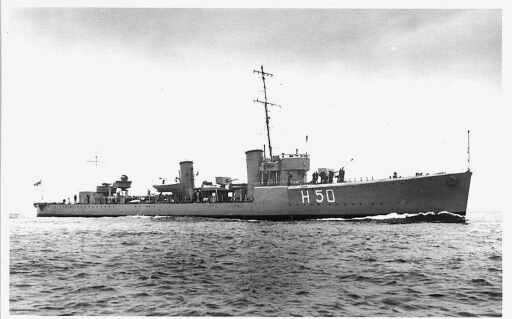HMS Stronghold Royal Navy destroyer sunk at the Battle of Java Sea