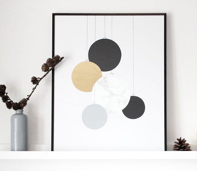 ein weihnachtskugelbild deco miscellaneous pinterest. Black Bedroom Furniture Sets. Home Design Ideas