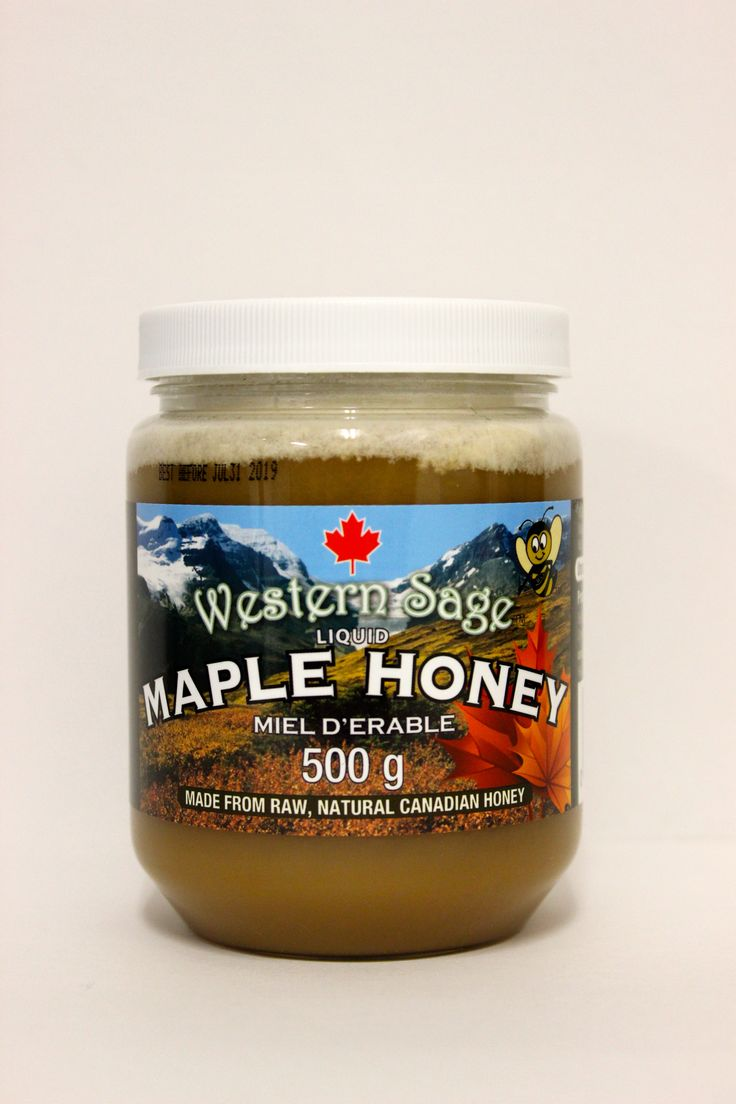 LIQUID MAPLE HONEY!!!! Sweet like syrup with NO added sugar! Western Sage & KB Honey (aka Kidd Bros) Ingredients: 100% Pure Canada No. 1 White Natural Honey, Pure Maple Extract. Tastes great on waffles & pancakes or just toast! #maplehoney #maplesyrup #maplefudge #maple #natural #raw #gmofree #glutenfree #koshercheckcertified #cfiaapproved #honey #healthfood #bclocal #localproducts #WesternSage #kiddbros #kbhoney #wshoney #miraclefood #remedies #beeproducts #homeofglacierhoney #glacierhoney