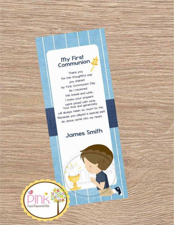 Recuerdos de Primera Comunión Niños// Bookmarks Primera
